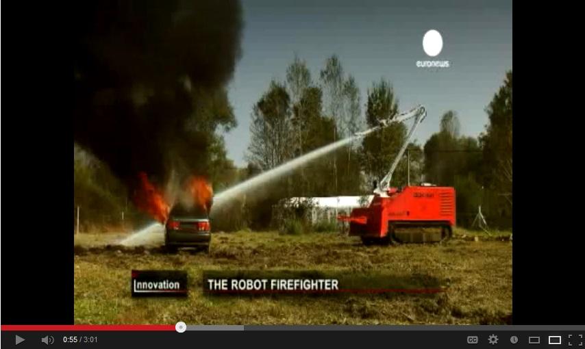 Нов животоспасяващ робот-пожарникар