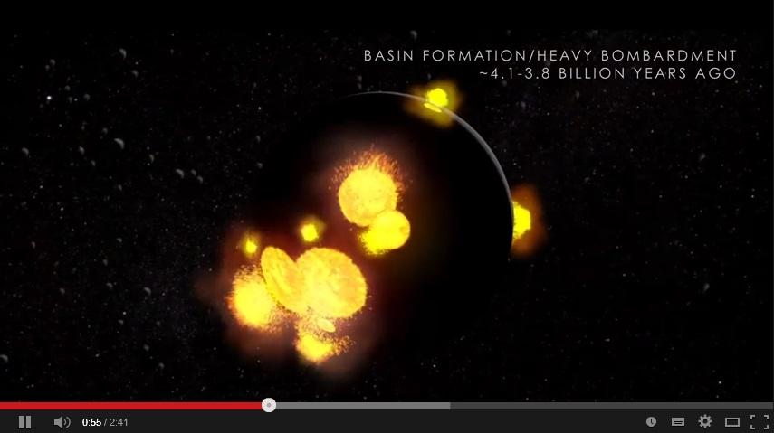 Еволюция на Луната (видео)