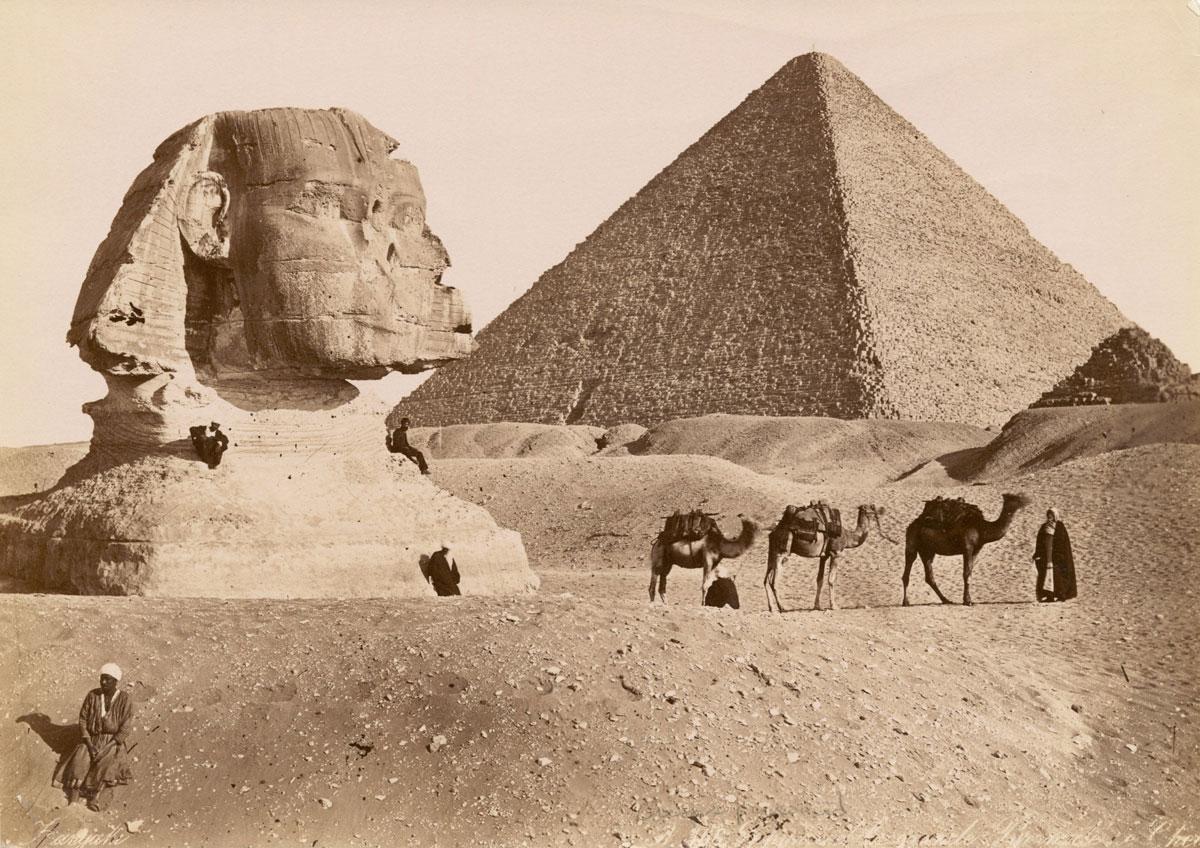 Сфинксът и Хеопсовата пирамида между 1860 и 1929 г