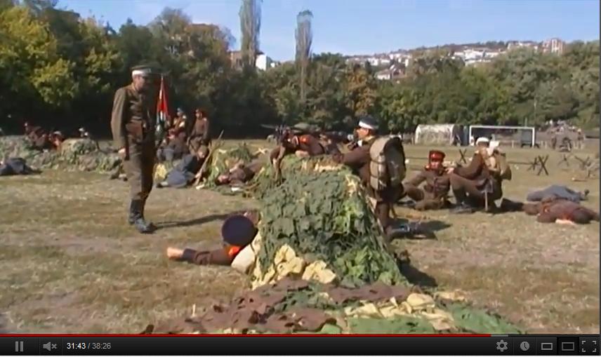 Възстановка  100 г. от Балканската война